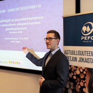 Suuret kaupungit ovat lisänneet puurakentamista aktiivisimmin, sanoo Suomen PEFCin markkinointipäällikkö Juha Uppa. Kuva: Jenni Kylmäaho