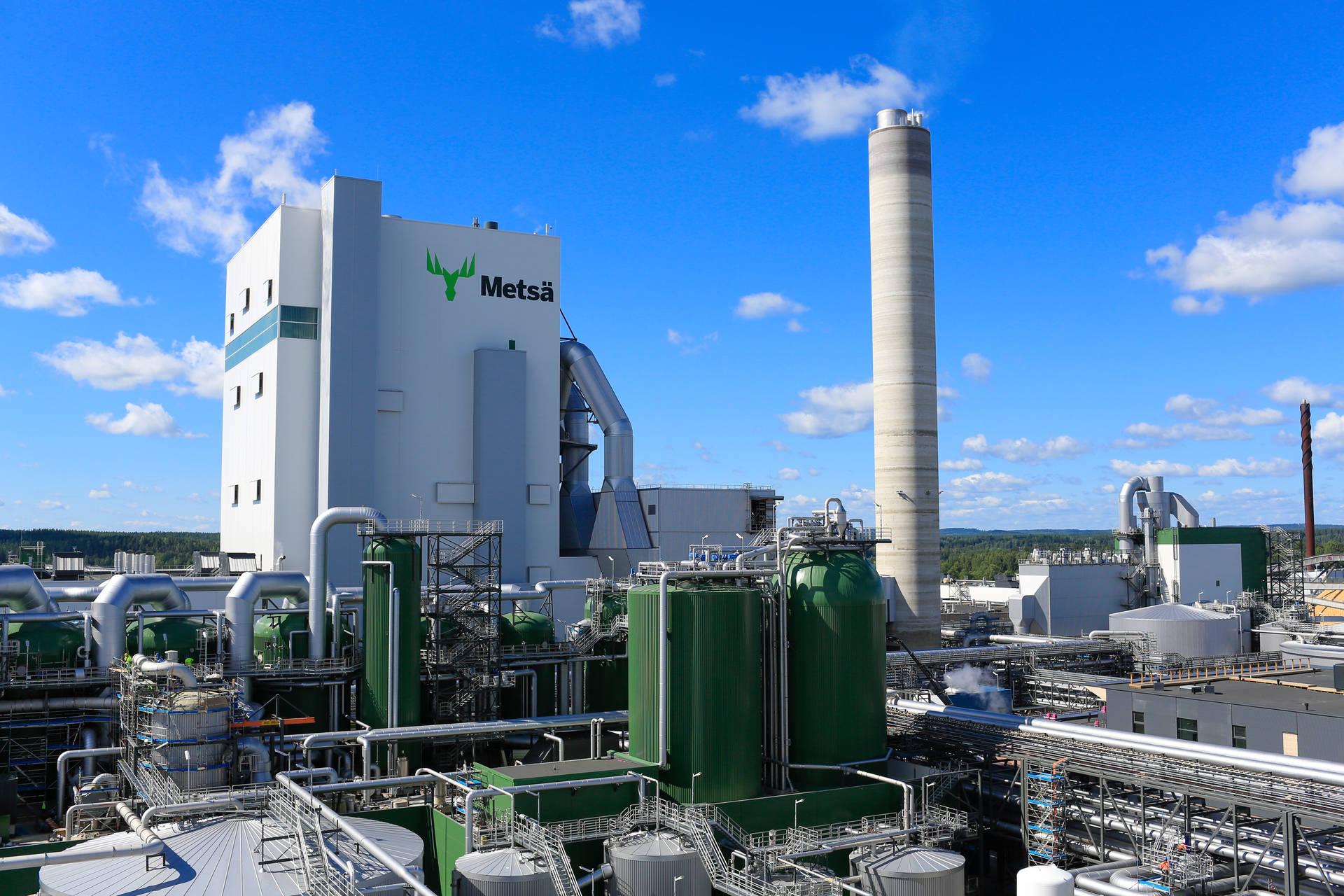 Äänekosken biotuotetehtaan ydinalue. Kuva: Sami Karppinen
