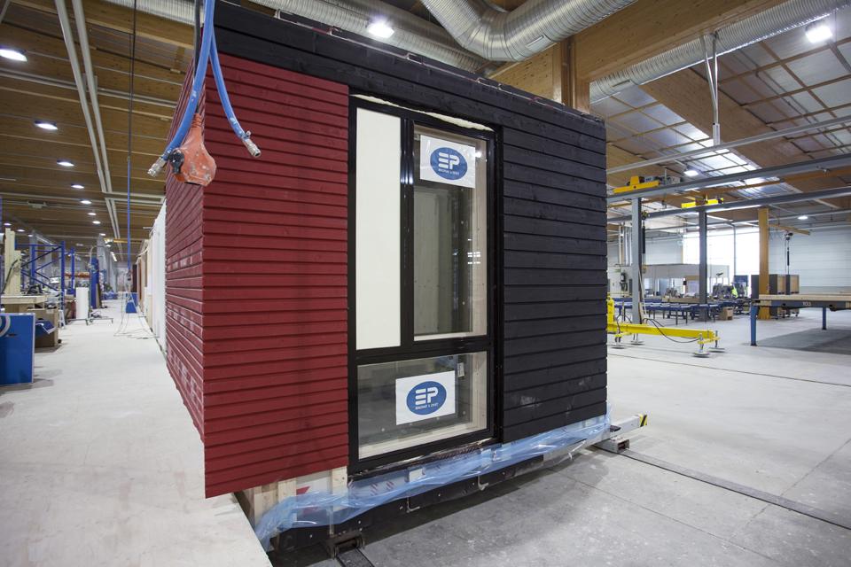 Mäihän CLT-tilaelementit valmistettiin Hartolassa. Kuva: Maria Mattelmäki, Stora Enso