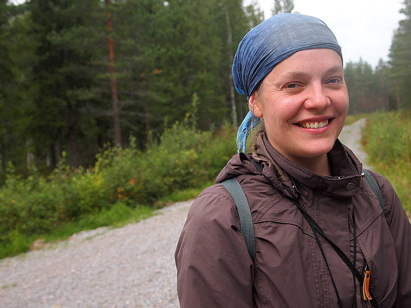 "Biologist, Ms. Kristiina Nyholm waited much more interest from the landowners' side towards inventorying. ""But it has turned out otherwise,"" she says. Photo: Hannes Mäntyranta"