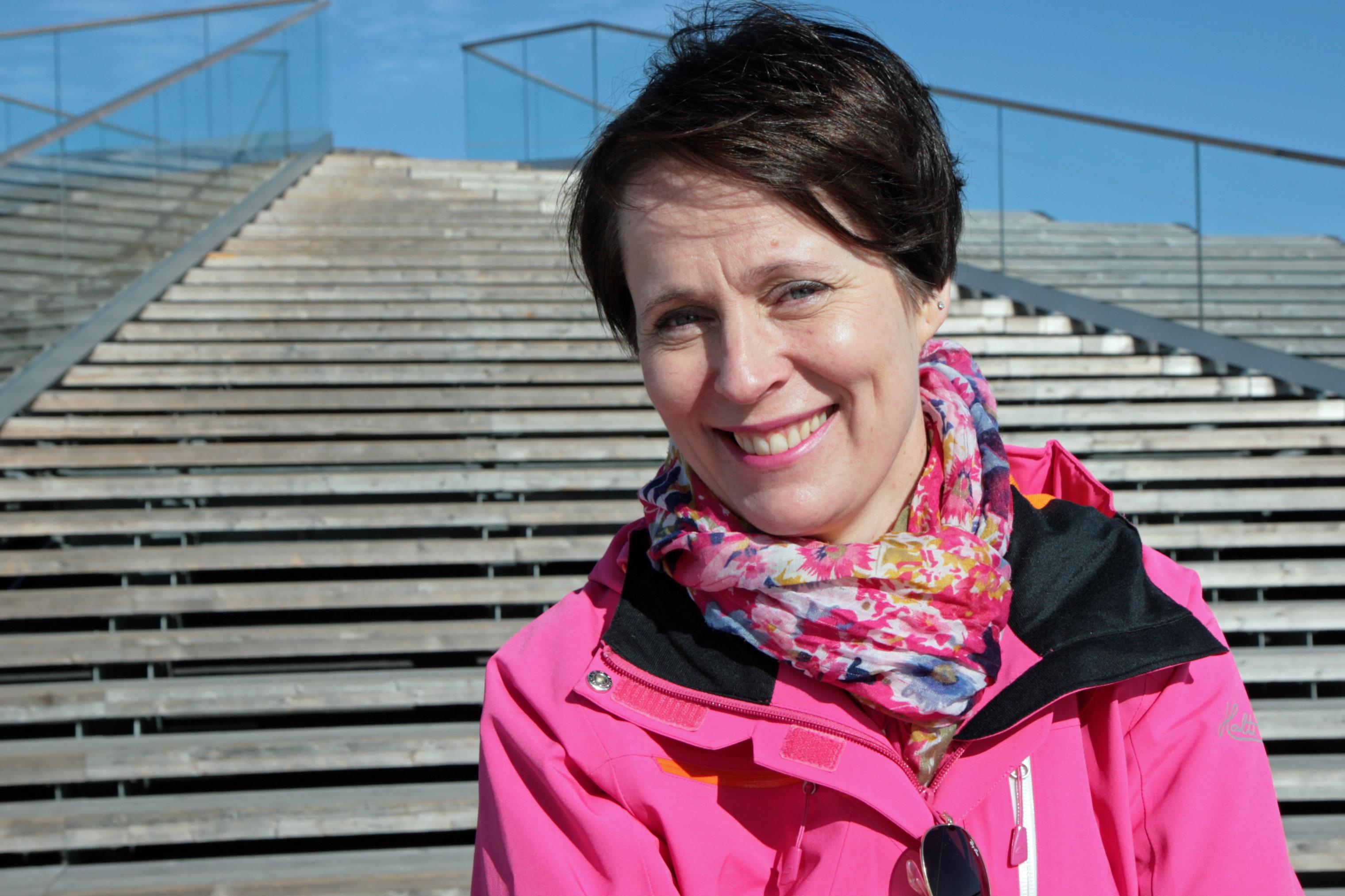 Katja Lähtinen became the first Professor of Business Economics and Wood Construction at the University of Vaasa last autumn. Photo: Anna Kauppi