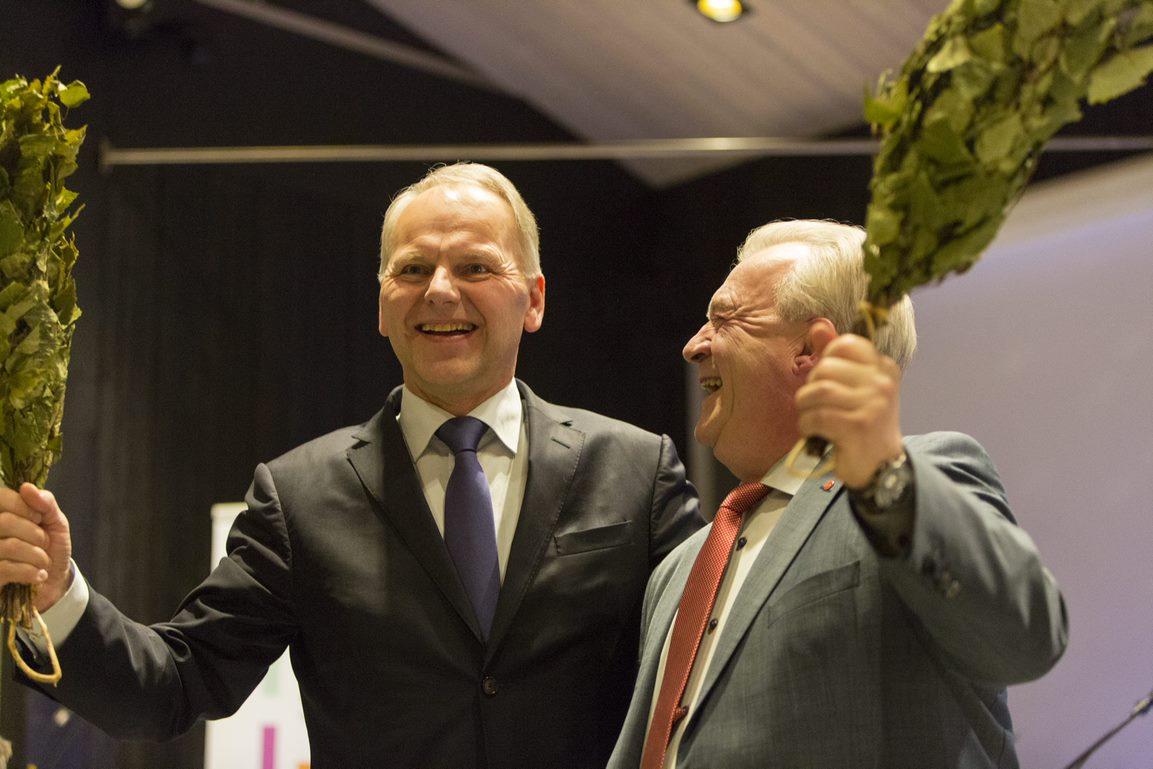 Jari Leppä ja Sven-Erik Bucht. Kuva: Erkki Oksanen