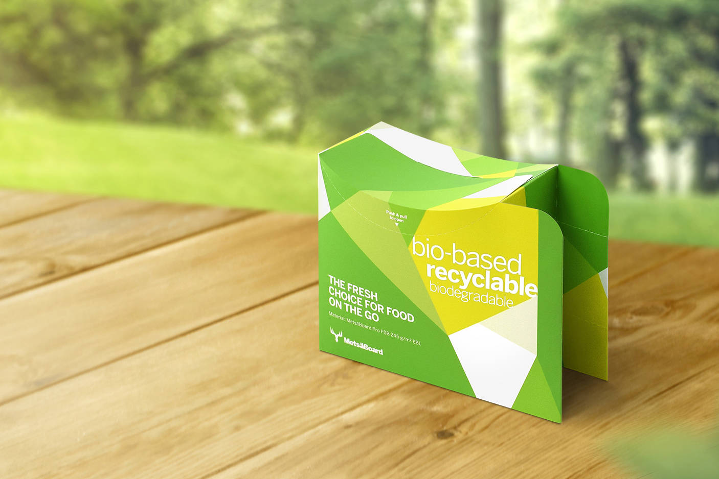 New alternatives to greaseproof food packaging do not require fossil-based barriers even on the inside. Photo: Metsä Group