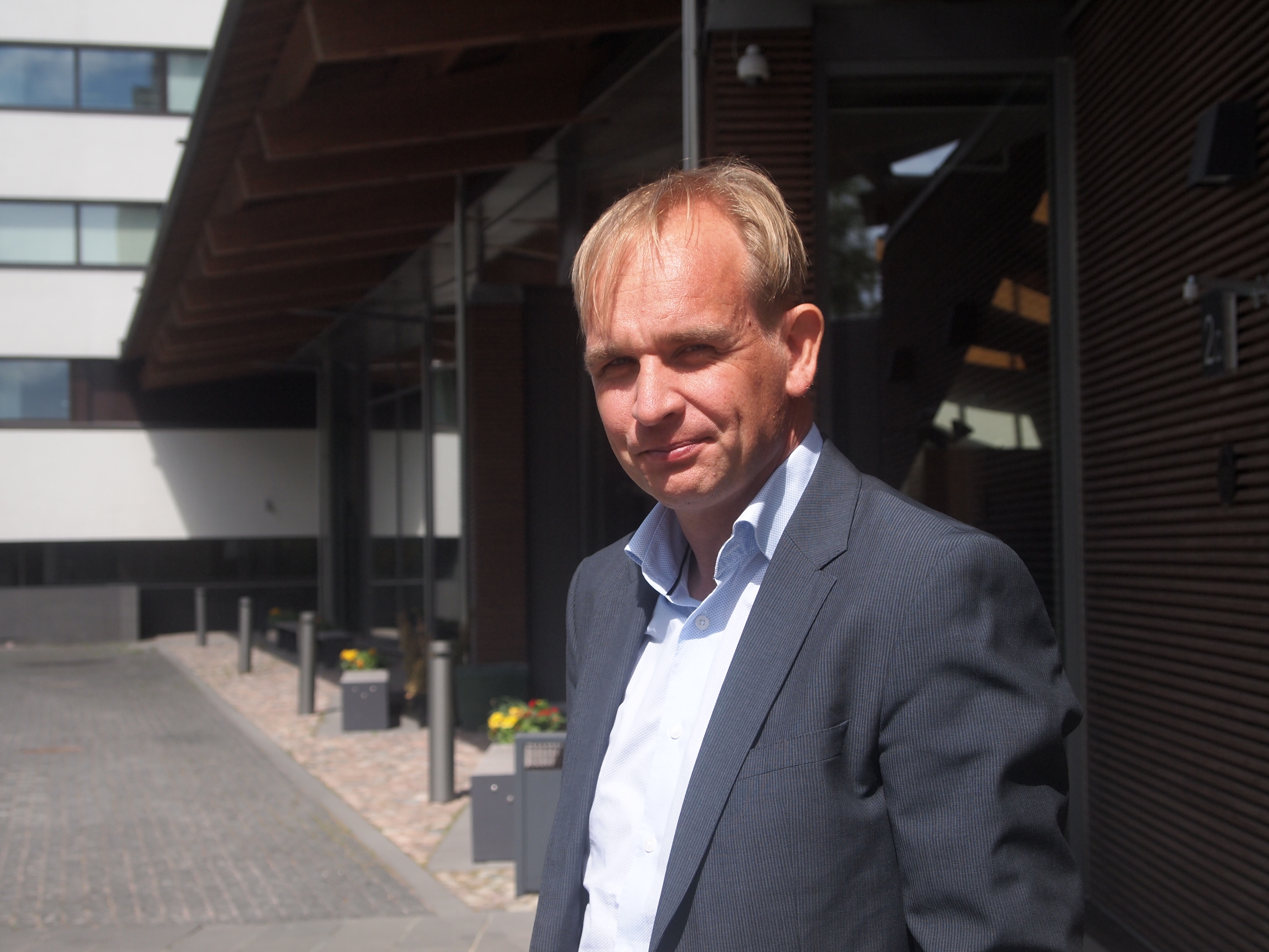 Kehitysjohtaja Mikko Saavalainen, Metsä Wood. Kuva: Hannes Mantyranta