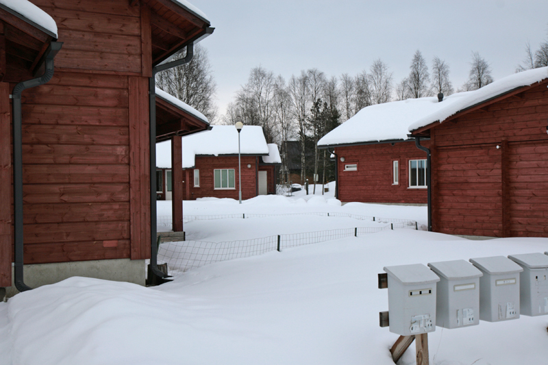 Log-built residential area in Pudasjärvi. Photo: Anna Kauppi