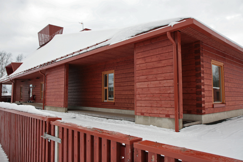 The log-built day care centre in Pudasjärvi. Photo: Anna Kauppi