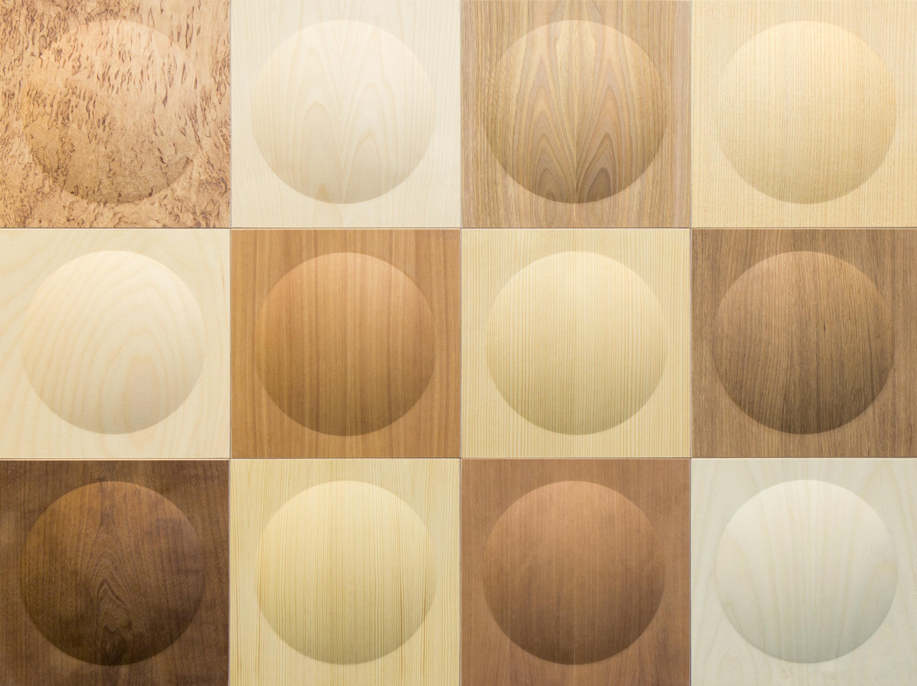 Haptic-sisustusratkaisu: Puulalijt puhuvat puuinfolle. Kuva: Karell Design