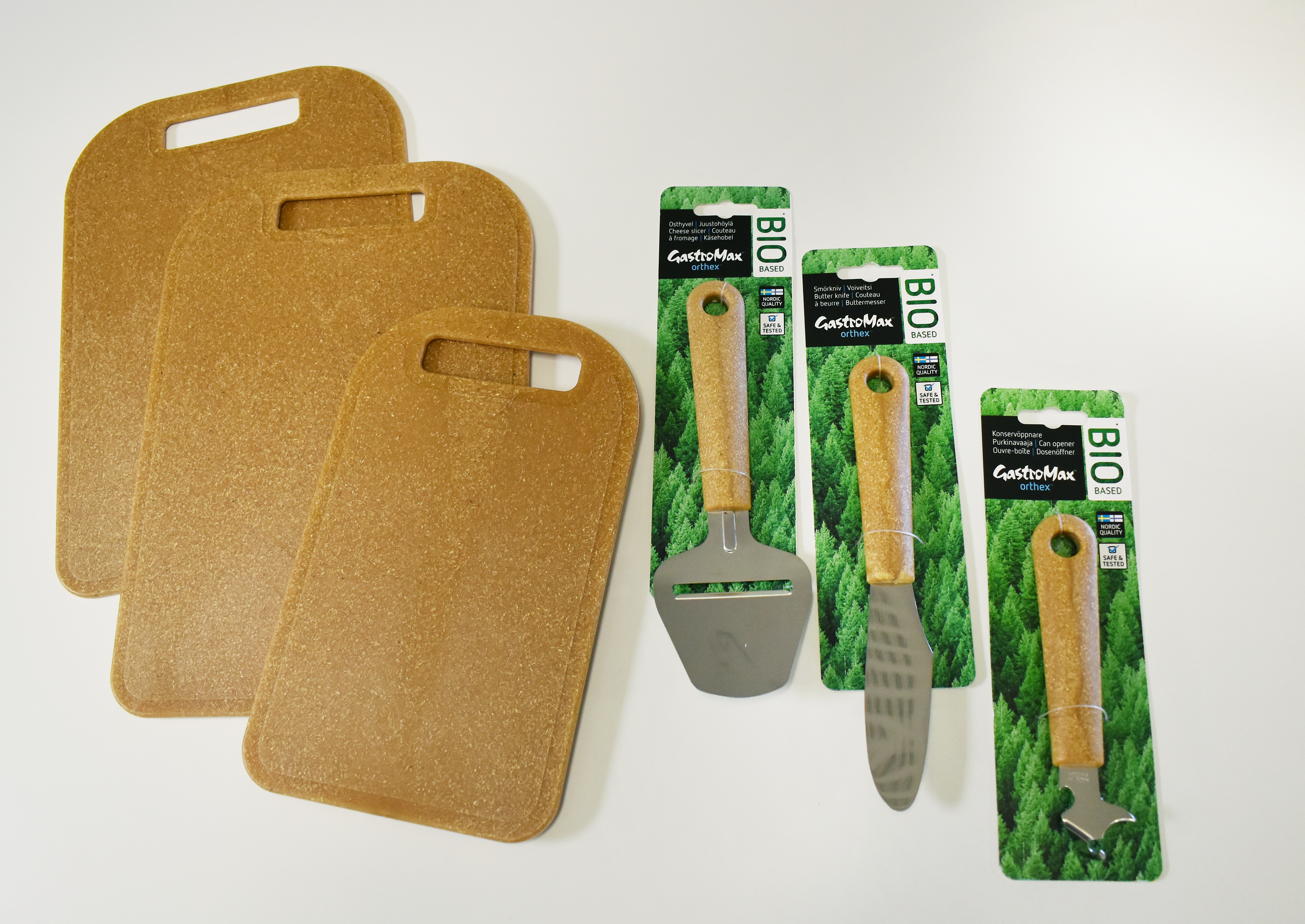 The new kitchen utensils consist of 98% bio-based material. Photo: Stora Enso