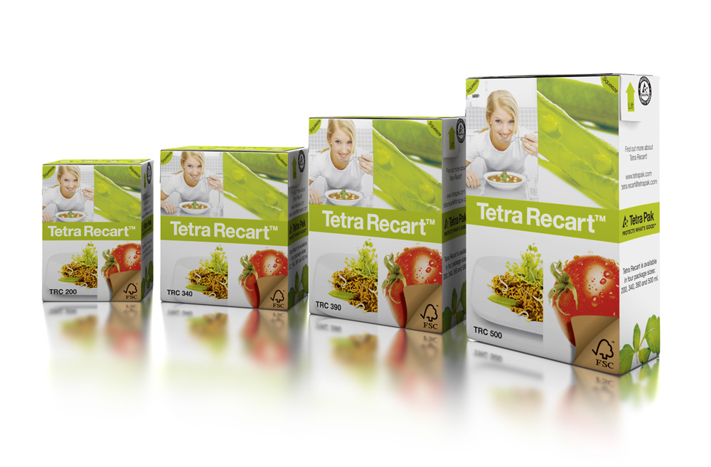 Tetra Recart food cartons. Photo: Tetra Pak