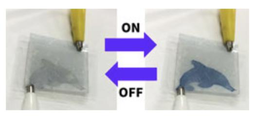 E-paperin elektrolyytti muuttaa tilaansa kosketuksen seurauksena.