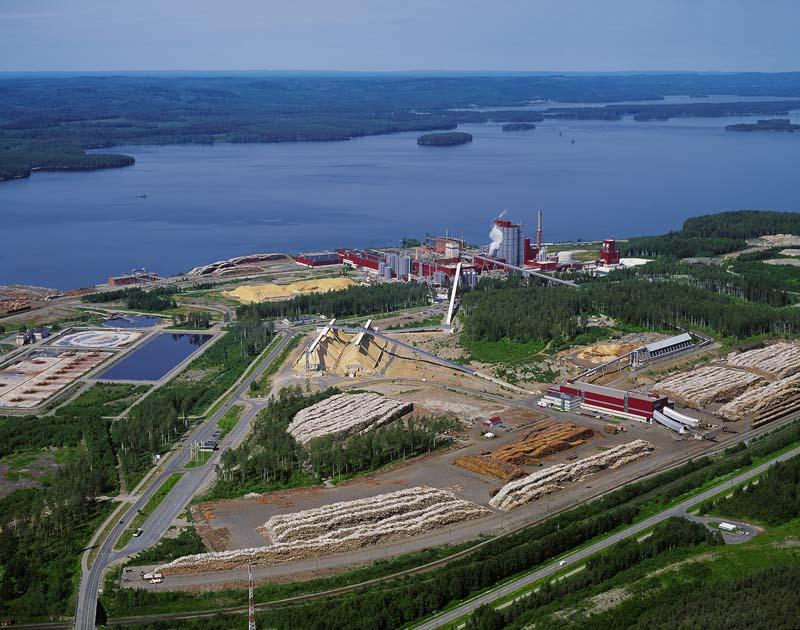 Stora Enso Uimaharju mill.