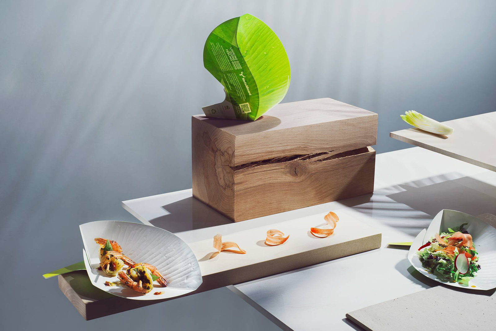 Plastic-free eco-barrier paperboard can be recycled with paperboard. Photo: Metsä Group