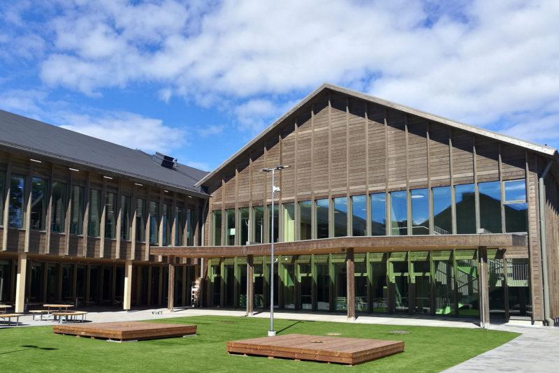 Finland's largest wooden school