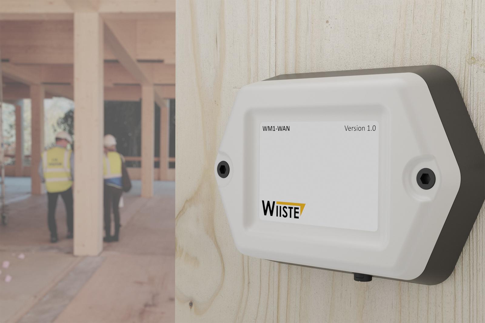 Stora Enson ja Wiisteen yhteistyössä kehittämä puisten rakennuselementtien kosteusmittario. Kuva: Wiiste