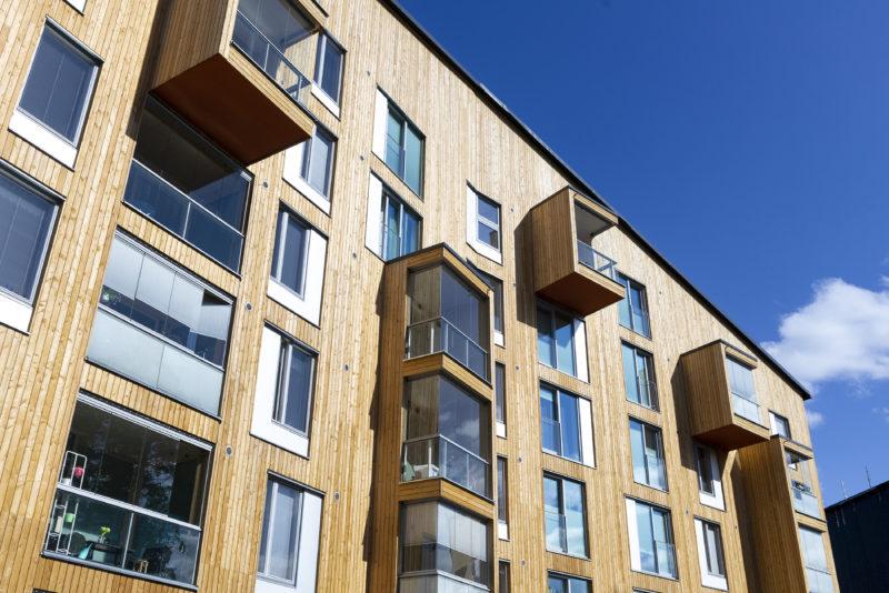 Puukuokka apartment building in Jyväskylä, Finland. Photo: Saku Ruusila