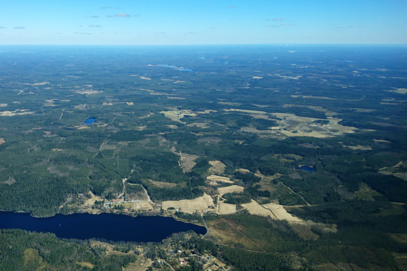 Aerial view of a Finnish forest area. Photo: Matti Mottus