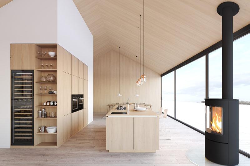 Modern nordic kitchen. Photo: Stora Enso